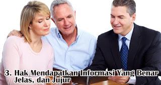 Hak Untuk Mendapatkan Informasi Yang Benar, Jelas, dan Jujur atas Apa yang Akan Dikonsumsi merupakan salah satu hak konsumen