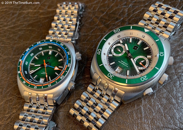 Straton Tourer GMT and Triple Calendar green