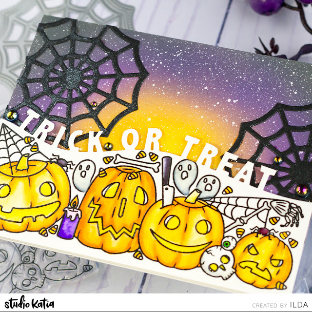 Trick or Treat Trimmings Card | Studio Katia by ilovedoingallthingscrafty.com