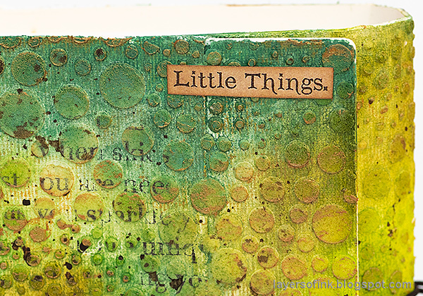 Layers of ink - In The Forest Wrapped Journal Tutorial by Anna-Karin Evaldsson.