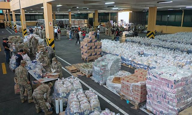 Indeci y Mindef reciben donaciones de empresas privadas y publico en general para armar kits de alimentos para poblaciones vulnerables.