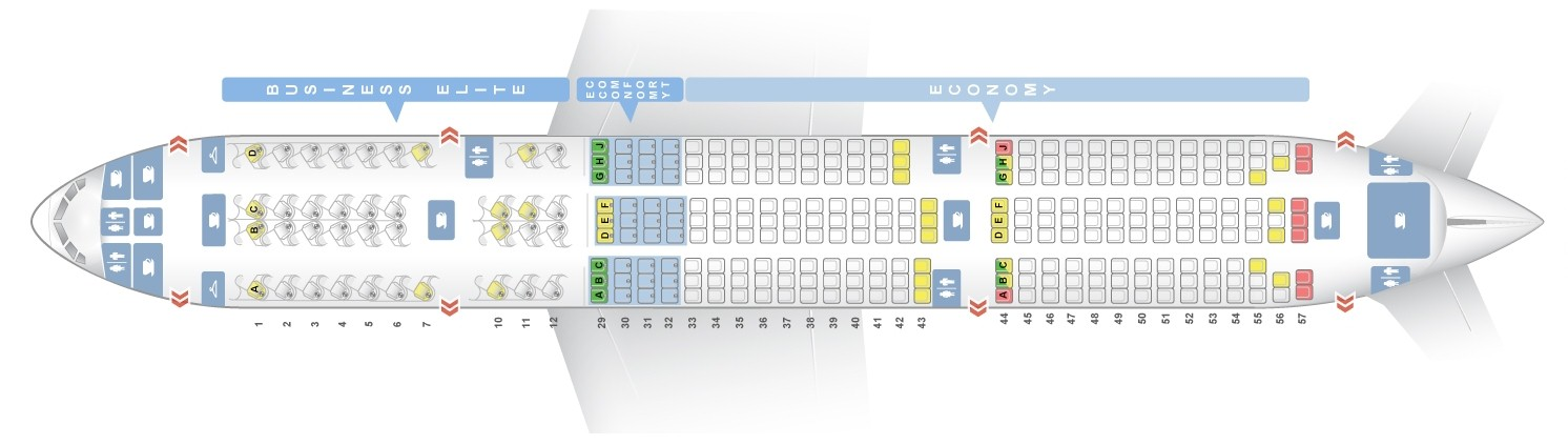 Delta Air Lines Boeing 777 200er Seat Map