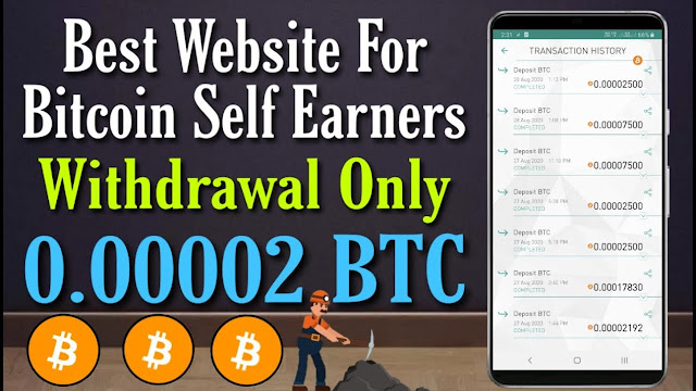 Best Website For Bitcoin Earning Withdraw Only 0.00002 BTC | New Cloud Mining Site Get 200 GH/S Free