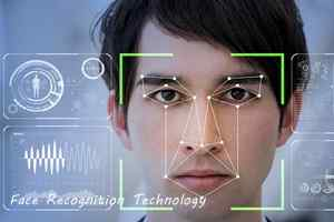 Face Recognition camera detects nodal points, with the nose, lips, eyebrows, chin, and other curves of the face as the focal points
