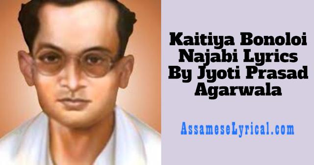 Kaitiya Bonoloi Najabi Lyrics