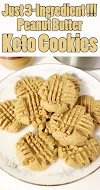Easy 3-Ingredient Peanut Butter Keto Cookies