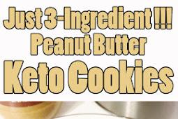 Easy 3-Ingredient Peanut Butter Keto Cookies