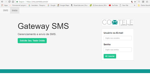 Site da empresa Gateway