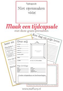 Maak een tijdcapsule - met deze gratis printables