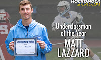 Matt Lazzaro Underclassman of the Year (HockomockSports.com photo)