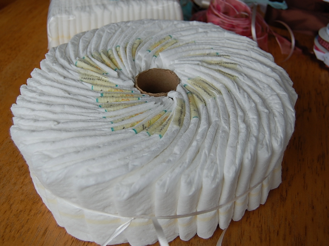 How To Make A Spiral Diaper Cake