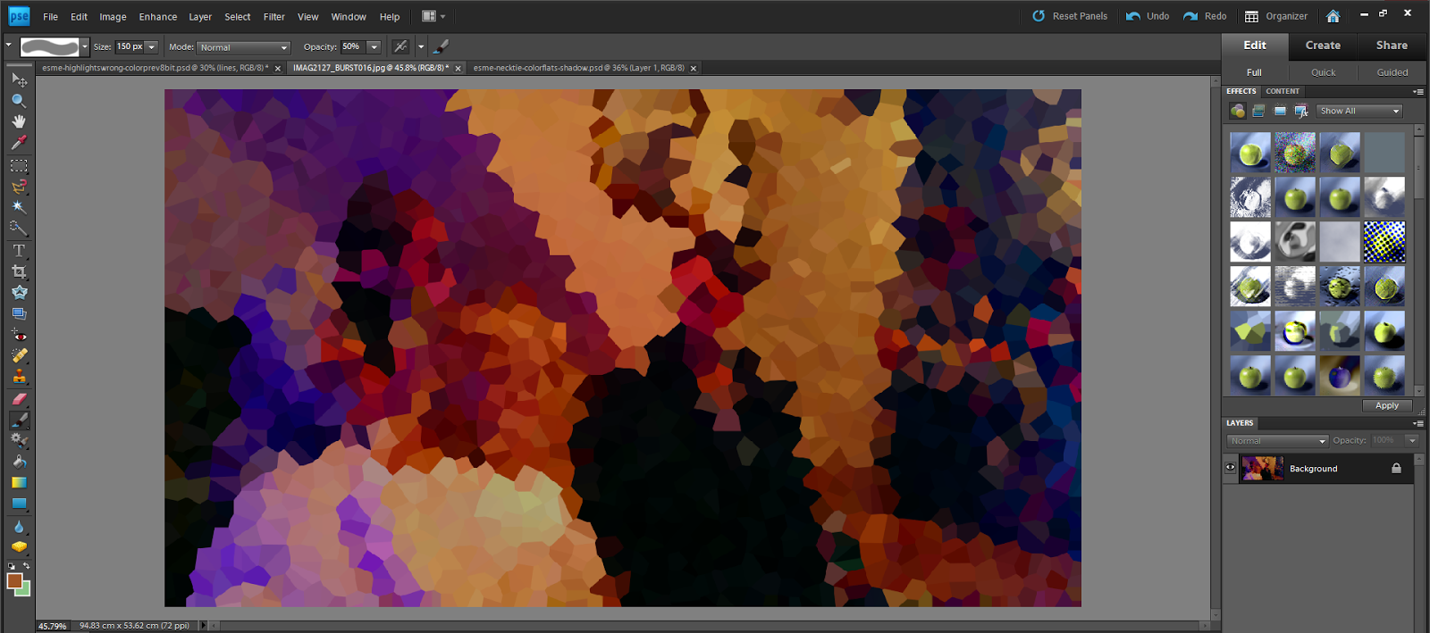 photoshop colour palette from photo