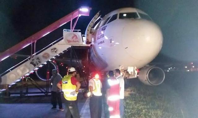 Pesawat Airbus 320 AirAsia Tergelincir