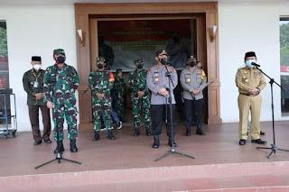 Gubernur Paparkan Aksi Percepatan Penganganan Covid 19 kepada Kapolri dan Panglima TNI