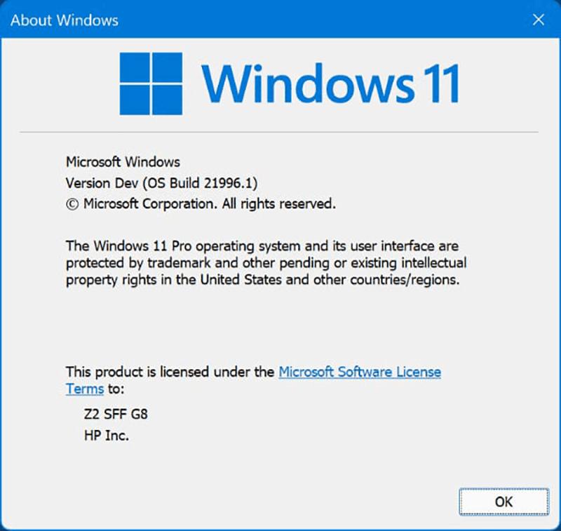 Windows 11 Build Number
