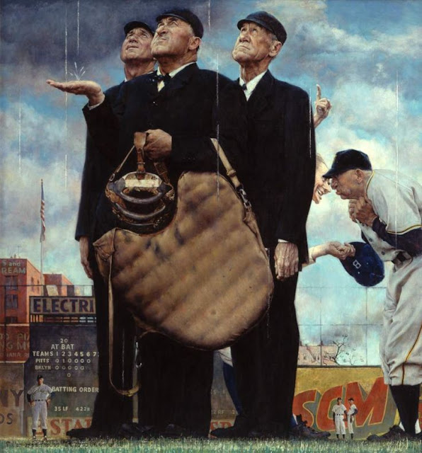 Norman Rockwell baseball painting, 19 August 1941 worldwartwo.filminspector.com