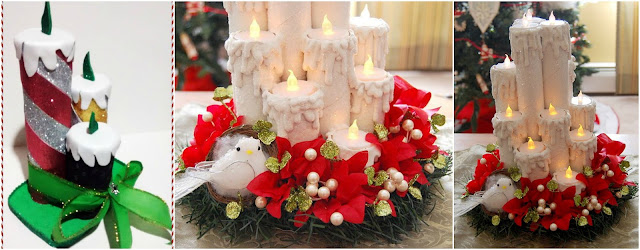 Haz lindas velas navide as reciclando rollos de papel higi nico for Velas navidenas