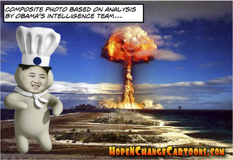 obama, obama jokes, hope and change, hope n' change, korea, nuke, stilton jarlsberg, provocative, cowboy, state of the union, kin jong-un, nuclear weapons