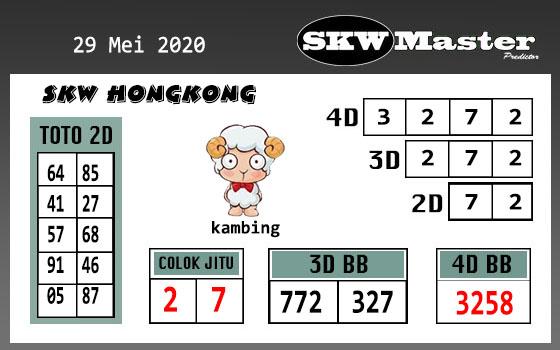 Prediksi HK Malam Ini 29 Mei 2020 - SKW Master