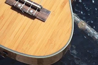 Moselele Bambookulele concert ukulele grain pattern