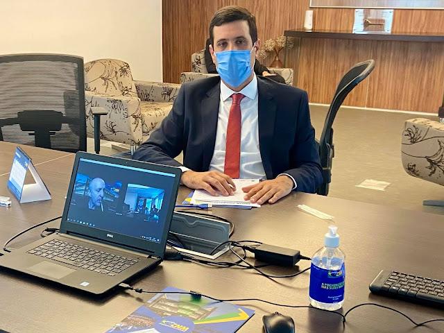 Presidente da AMA prefeito de Cacimbinhas cumpre agenda de trabalho em Brasília.