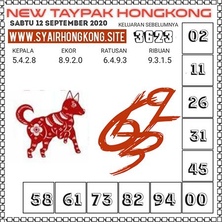 New Taypak Hongkong Sabtu 12 September 2020