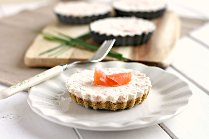 Mini Smoked Salmon Cheesecakes