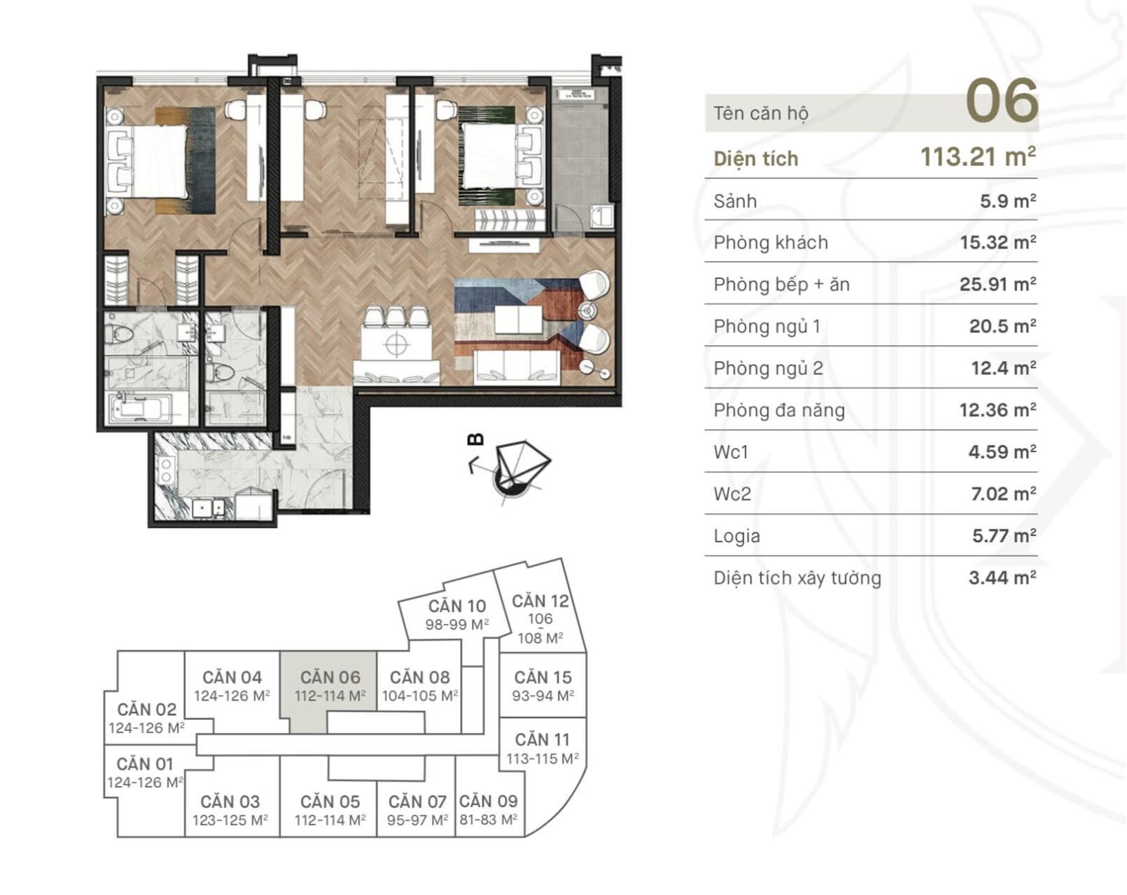 Thiết kế căn hộ 06 King Palace