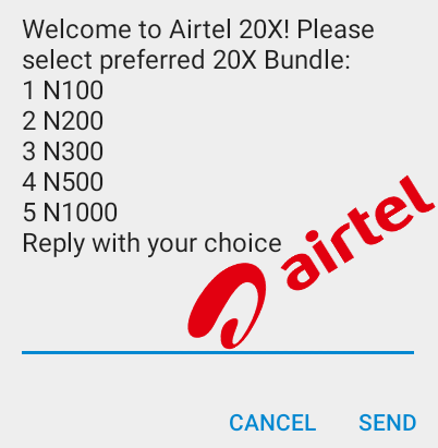 Airtel 20x Bonus - Recharge N100 and Get N2000 + 1GB data for N200