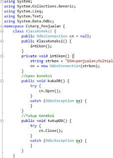 Cara mudah membuat Koneksi Database CSharp