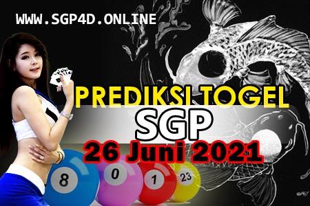 Prediksi Togel SGP 26 Juni 2021
