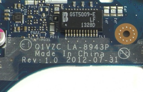 LA-8943P Rev 1.0  ACER V5-131 Laptop Bios
