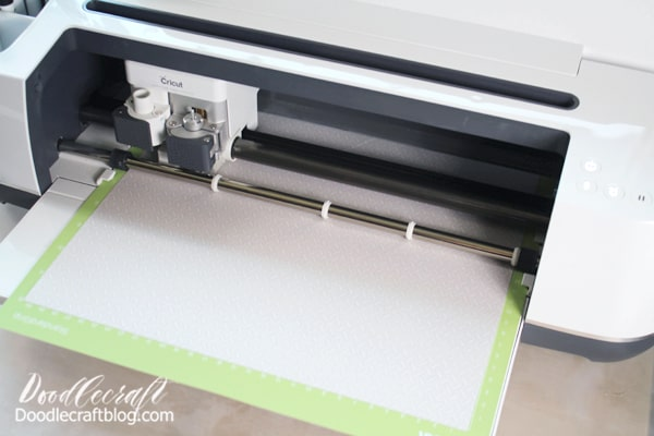 Begin by placing the Cricut Infusible Ink Transfer on the green cutting mat with the ink side up. Don't over handle the Infusible Ink. Make sure you have clean and dry hands. The Infusible Ink Transfers will look dull before the heat, and then they pop vibrantly!