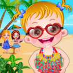 لعبة بيبي هازل على الشاطئ