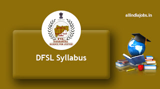 DFSL Assistant Chemical Analyst Syllabus