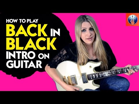 back in black intro guitar lesson