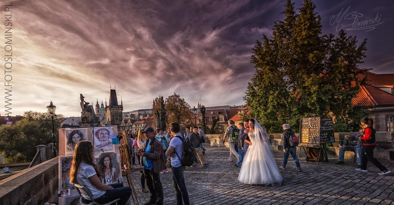 Fotografia ślubna Wrocław #ZdjęciaSłomińskiego - sesja plenerowa w Pradze.