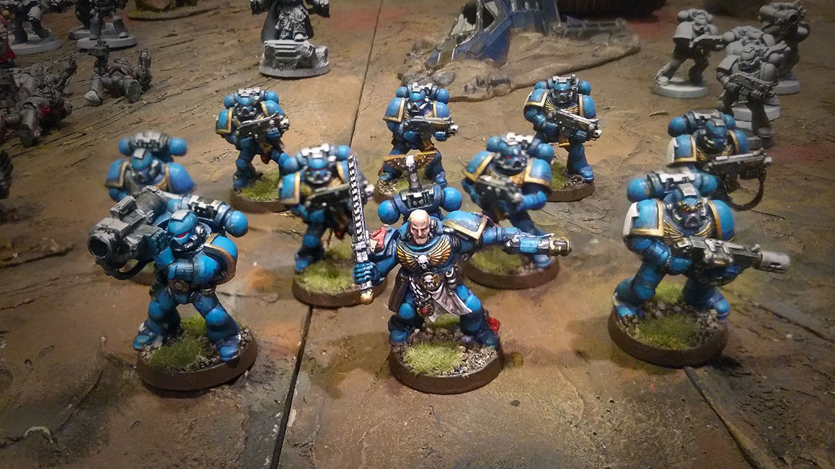 Warhammer 40k Space Marines Tactical Squad Painted