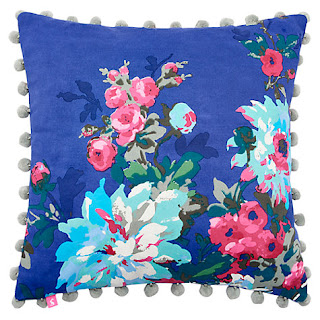 Joules Chevening Cushion, Blue
