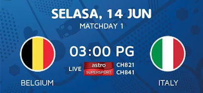 Live Streaming Keputusan Belgium Vs Italy EURO 2016