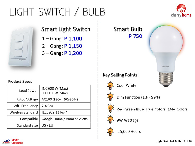 Color the room however you want it with the Cherry Home Smart Bulb
