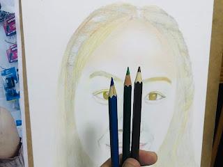 สอนวาดวาดภาพเหมือนด้วยสีไม้