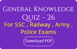 General Knowledge Quiz - 26