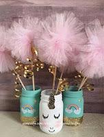 Decoración temática de unicornios para niñas