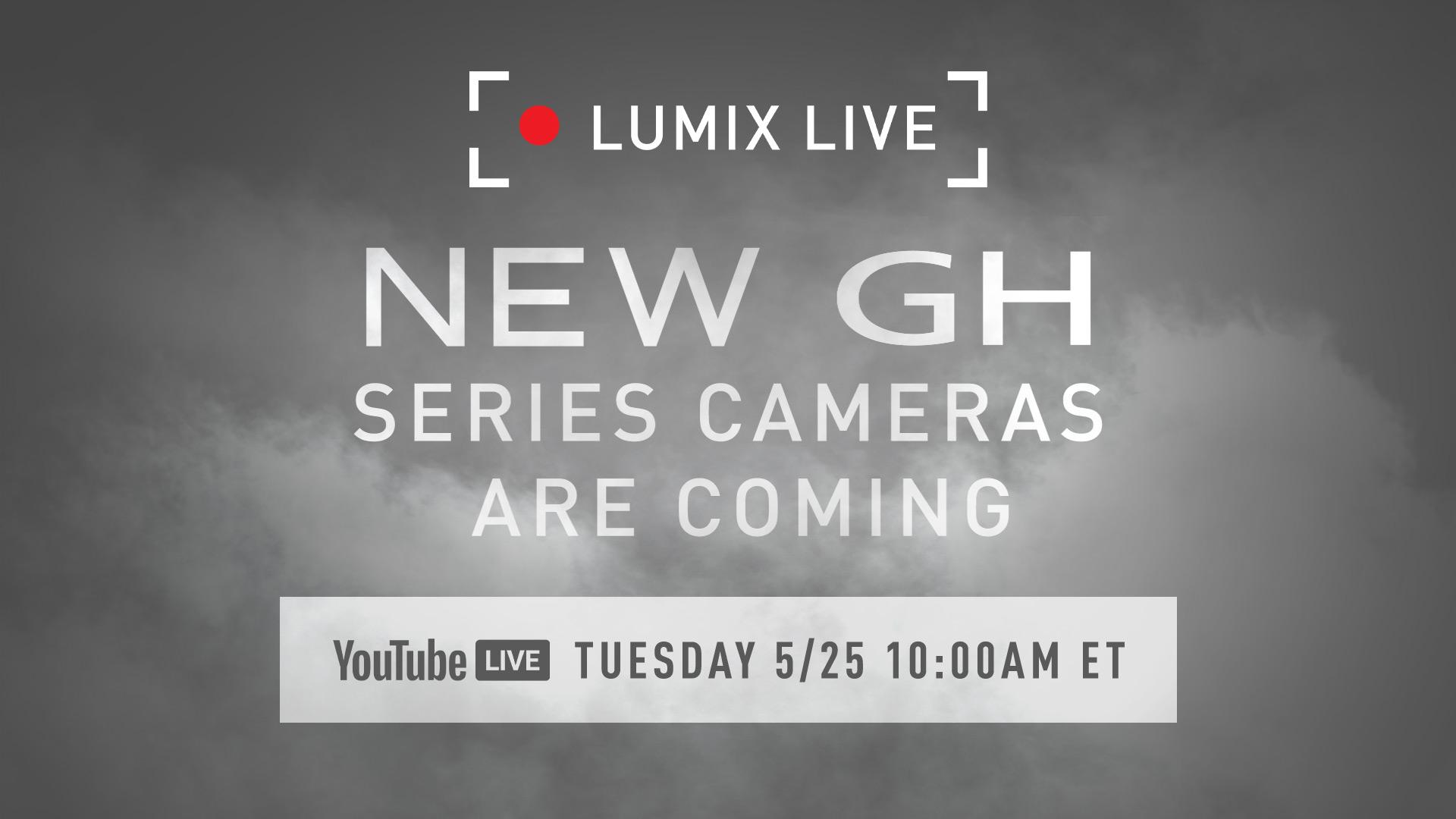Заставка онлайн-трансляции на Youtube с презентацией камер Panasonic Lumix GH