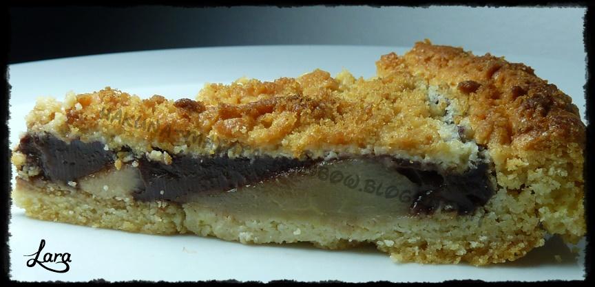http://cucinaconlara.blogspot.it/2014/05/crostata-con-pere-e-budino-al-cioccolato.html