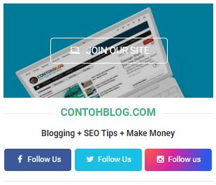 Cara Memasang Author Box Social Widget di Sidebar Blogger