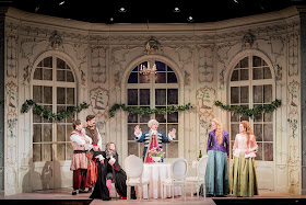 Mozart: Cosi fan tutte - Nick Pritchard, Nicholas Lester, Sarah Tynan, Peter Coleman Wright, Eleanor Dennis, Kitty Whately- Opera Holland Park (Photo Robert Workman)