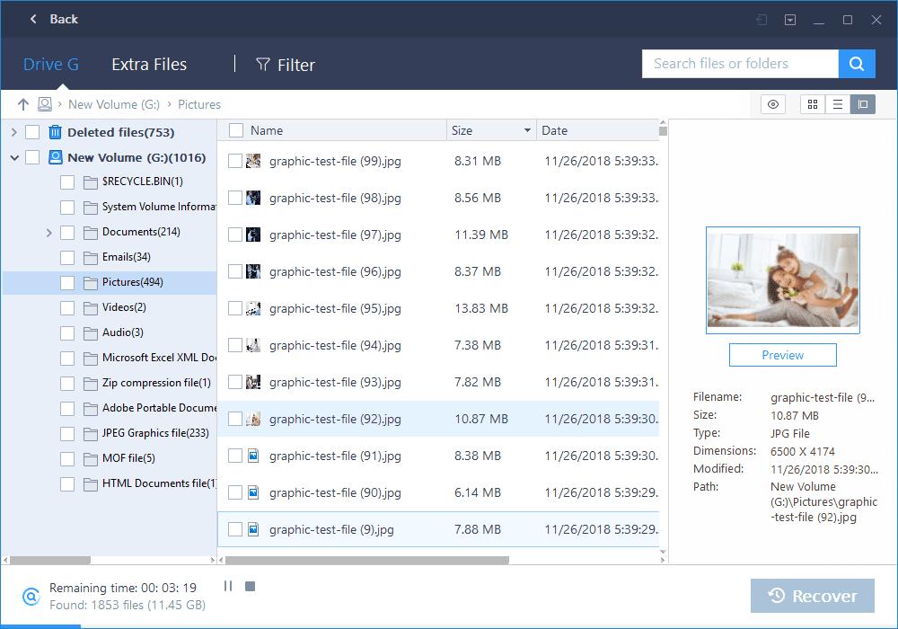 semua jenis file bisa discan oleh easeus