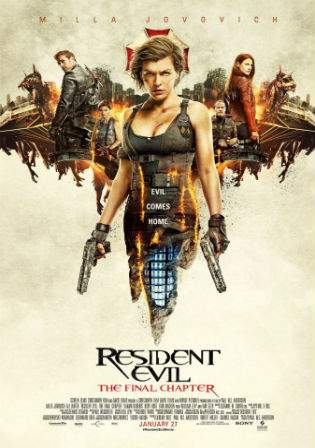 Resident Evil The Final Chapter 2017 WEB-DL Dual Audio 1.1Gb Hindi